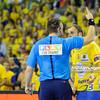 19.04.2015 - Kielce , Hala Legionow , pilka reczna , EHF Champions League , Vive Tauron Kielce (zolte) - HC Vadar (czarno-czerwone) N/Z Uros Zorman Fot. Karol Bartnik / MPAimages.com