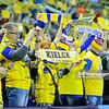19.04.2015 - Kielce , Hala Legionow , pilka reczna , EHF Champions League , Vive Tauron Kielce (zolte) - HC Vadar (czarno-czerwone) N/Z Kibice Vive Targi Kielce Fot. Karol Bartnik / MPAimages.com