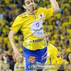 19.04.2015 - Kielce , Hala Legionow , pilka reczna , EHF Champions League , Vive Tauron Kielce (zolte) - HC Vadar (czarno-czerwone) N/Z Denis Buntic Fot. Karol Bartnik / MPAimages.com