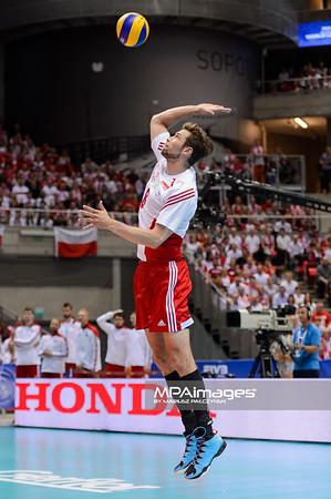 28.05.2015 - Gdansk , Ergo Arena , siatkowka , Liga Swiatowa 2015 , Polska (biale) - Rosja (czerwone) , FIVB World League 2015 Poland - Russia  N/Z Andrzej Wrona  Fot. Mariusz Palczynski / MPAimages.com