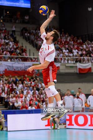 28.05.2015 - Gdansk , Ergo Arena , siatkowka , Liga Swiatowa 2015 , Polska (biale) - Rosja (czerwone) , FIVB World League 2015 Poland - Russia  N/Z Michal Kubiak  Fot. Mariusz Palczynski / MPAimages.com