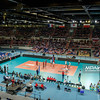 24.08.2015 - Torun , Torun Arena , siatkowka , XIII Memorial Huberta Wagnera, Polska (biale) - Francja (niebieskie) N/Z Arena Torun Fot. Karol Bartnik / MPAimages.com