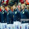 15.01.2015 - Katowice , Spodek , pilka reczna , EHF Euro 2016 , Islandia (niebieskie) - Norwegia (biale)  N/Z Norwegia Fot. Karol Bartnik / MPAimages.com