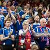15.01.2015 - Katowice , Spodek , pilka reczna , EHF Euro 2016 , Islandia (niebieskie) - Norwegia (biale)  N/Z Kibice Islandii Fot. Karol Bartnik / MPAimages.com