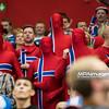 15.01.2015 - Katowice , Spodek , pilka reczna , EHF Euro 2016 , Islandia (niebieskie) - Norwegia (biale)  N/Z Kibice Norwegii Fot. Karol Bartnik / MPAimages.com