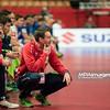 15.01.2015 - Katowice , Spodek , pilka reczna , EHF Euro 2016 , Islandia (niebieskie) - Norwegia (biale)  N/Z Cristian Berge Fot. Karol Bartnik / MPAimages.com