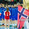 15.01.2015 - Katowice , Spodek , pilka reczna , EHF Euro 2016 , Islandia (niebieskie) - Norwegia (biale)  N/Z Islandia Fot. Karol Bartnik / MPAimages.com
