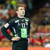 15.01.2015 - Katowice , Spodek , pilka reczna , EHF Euro 2016 , Islandia (niebieskie) - Norwegia (biale)  N/Z Ole Erevik Fot. Karol Bartnik / MPAimages.com