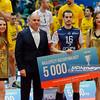 07.02.2016 - Wroclaw , Hala Orbita , siatkowka , Puchar Polski 2016 , Dekoracja  N/Z Benjamin Toniutti  Fot. Mariusz Palczynski / MPAimages.com