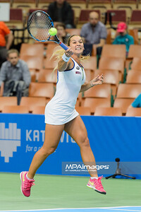06.04.2016 - Katowice , Spodek , Katowice Open , Dominika Cibulkova (SVK) - Elizaveta Kulichkova (RUS)  N/Z Dominika Cubulkova  Fot. Mariusz Palczynski / MPAimages.com