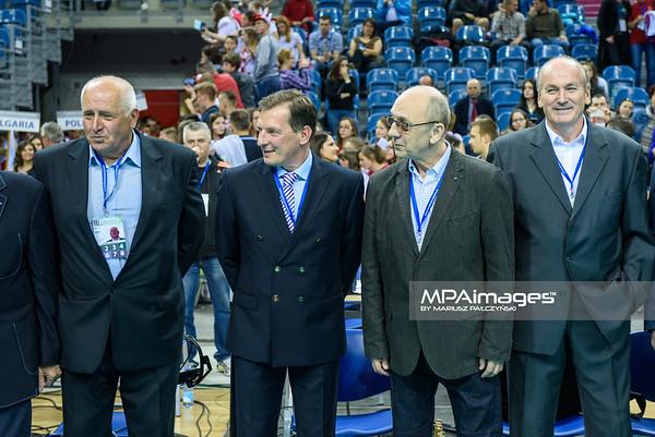 17.05.2016 - Krakow , Tauron Krakow Arena , siatkowka , XIV Memorial Huberta Jerzego Wagnera 2016 , Ceremonia otwarcia   N/Z Zbigniew Lubiejewski , Edward Skorek  Fot. Karol Bartnik / MPAimages.com