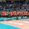 17.05.2016 - Krakow , Tauron Krakow Arena , siatkowka , XIV Memorial Huberta Jerzego Wagnera 2016 , Ceremonia otwarcia   N/Z Reprezentacja Belgii  Fot. Karol Bartnik / MPAimages.com