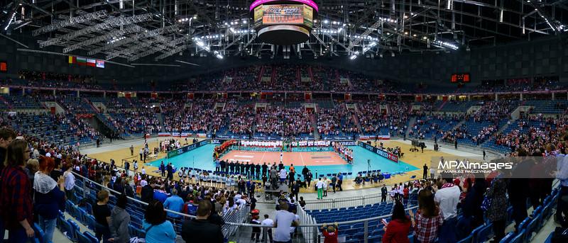 17.05.2016 - Krakow , Tauron Krakow Arena , siatkowka , XIV Memorial Huberta Jerzego Wagnera 2016 , Ceremonia otwarcia   N/Z Tauron Krakow Arena  Fot. Mariusz Palczynski / MPAimages.com