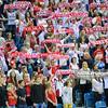 17.05.2016 - Krakow , Tauron Krakow Arena , siatkowka , XIV Memorial Huberta Jerzego Wagnera 2016 , Polska (biale) - Bulgaria (czerwone) , Poland (white) - Bulgaria (red)  N/Z Kibice  Fot. Karol Bartnik / MPAimages.com