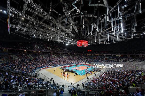 17.05.2016 - Krakow , Tauron Krakow Arena , siatkowka , XIV Memorial Huberta Jerzego Wagnera 2016 , Polska (biale) - Bulgaria (czerwone) , Poland (white) - Bulgaria (red)  N/Z Tauron Arena Krakow  Fot. Mariusz Palczynski / MPAimages.com