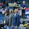 18.05.2016 - Krakow , Tauron Krakow Arena , siatkowka , XIV Memorial Huberta Jerzego Wagnera 2016 , Bulgaria (biale) - Serbia (niebieskie) , Bulgaria (white) - Serbia (blue)  N/Z  Fot. Karol Bartnik / MPAimages.com