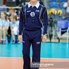 18.05.2016 - Krakow , Tauron Krakow Arena , siatkowka , XIV Memorial Huberta Jerzego Wagnera 2016 , Bulgaria (biale) - Serbia (niebieskie) , Bulgaria (white) - Serbia (blue)  N/Z Sedzia  Fot. Karol Bartnik / MPAimages.com