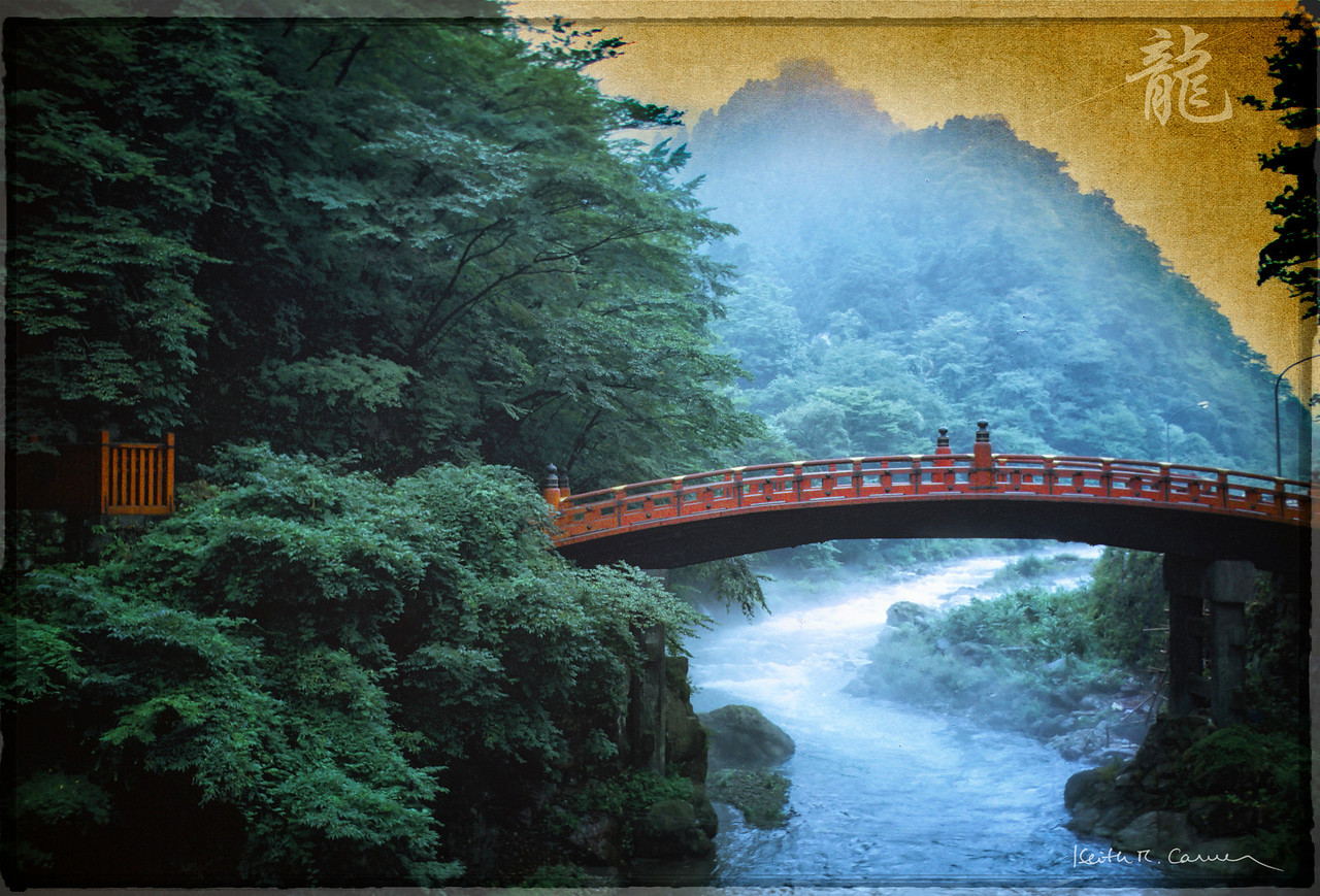 Shinkyo (Sacred Bridge), Daiya River, Nikko, Japan