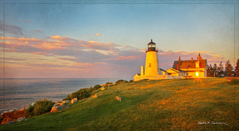 Dawn at Pemaquid Point Light, Maine