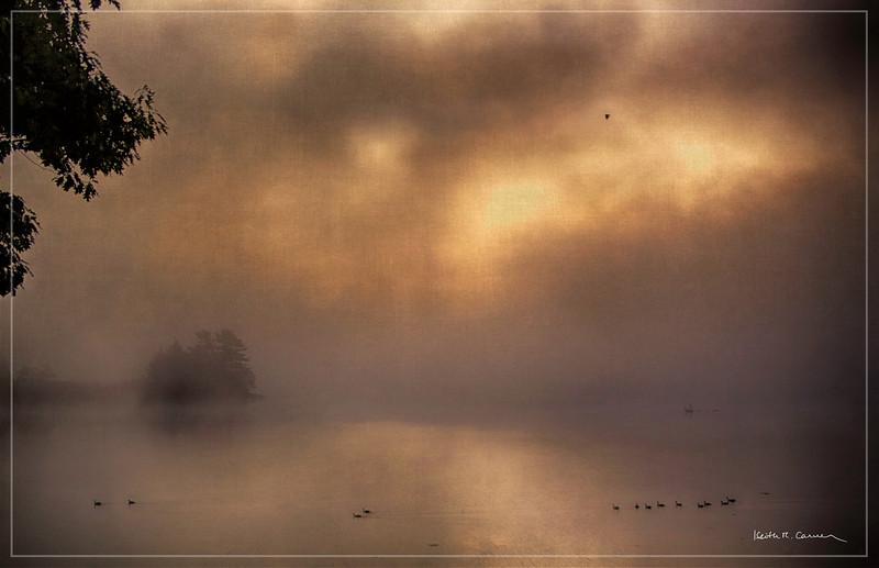 Sunrise and fog, Great Salt Bay, Maine