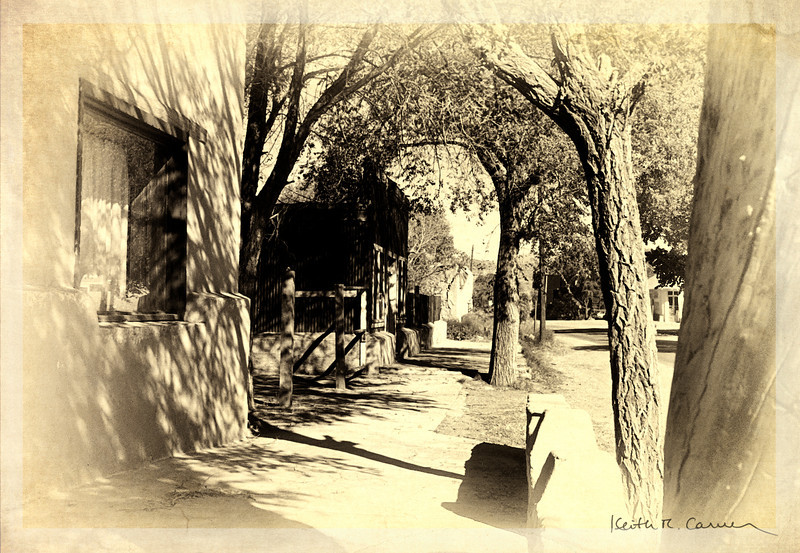 Back street in Old Mesilla, New Mexico