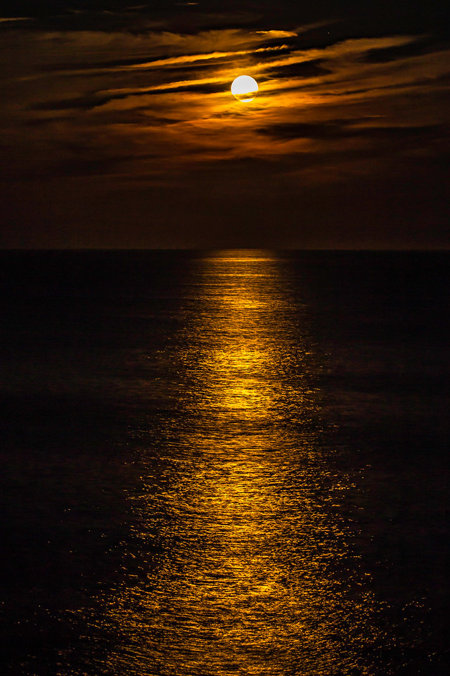 Moonrise of Gulf of Maine, from Pemaquid Point