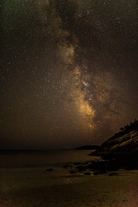 MILKY WAY AT SAND BEACH, ACADIA NP, MAINE