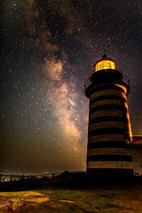 MILKY WAY AT WEST QUODDY LIGHT