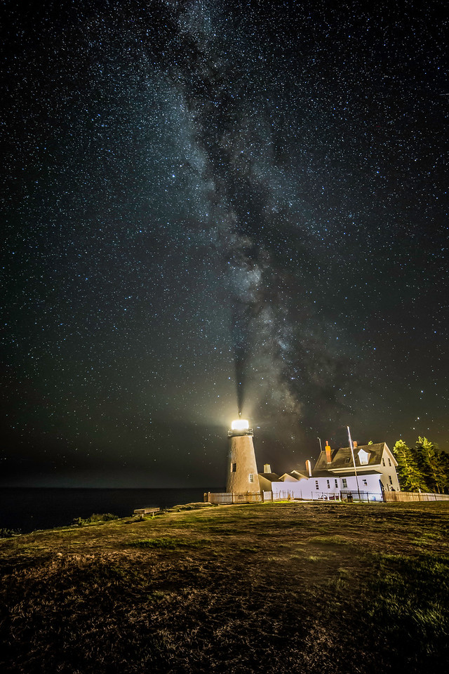 Milky Way at Pemaquid Light, Maine