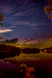 NIGHT SKIES OVER DAMARISCOTTA LAKE