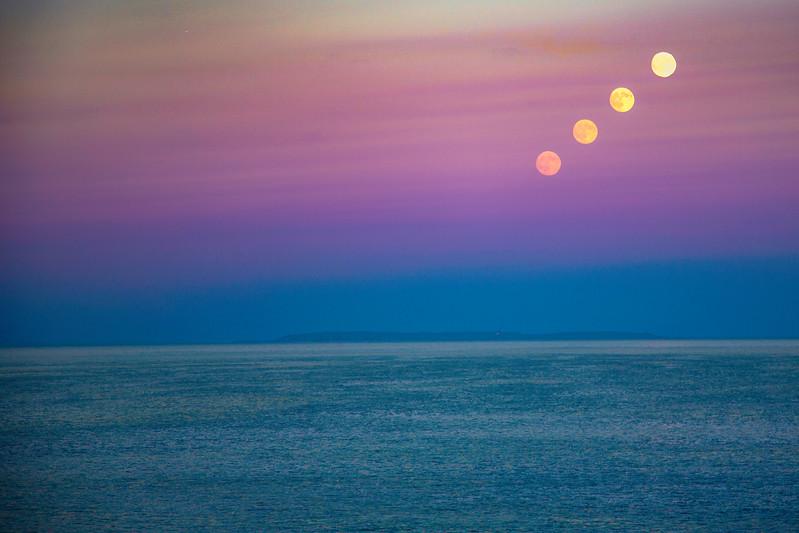 Moonrise over Monhegan Island