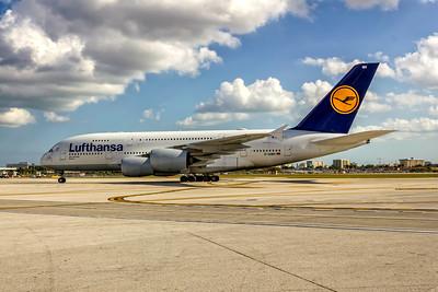 Lufthansa Airlines, D-AIMH, Airbus A380-841, msn 070, Photo by John A Miller, MIA, Image XA014LGJM