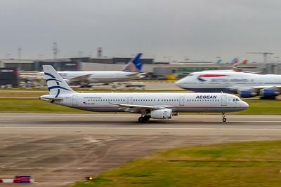 Aegean Airlines, SX-DVO, Airbus A321-231, msn 3462, Photo by John A Miller, LHR, Image TA030RGJM