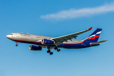 Aeroflot Russian Airlines, VQ-BBF, Airbus A330-243, msn 1045, Photo by John A Miller, LAX, Image WA008LAJM