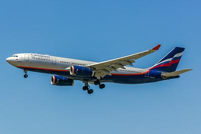 Aeroflot, VP-BLX, Airbus A330-243, msn 963, Photo by John A Miller, LAX, Image WA003LAJM