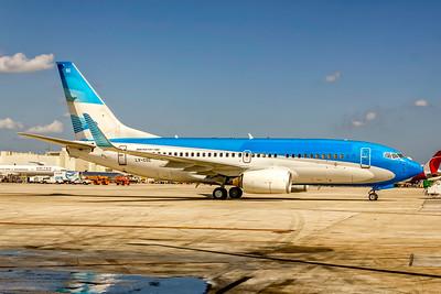 Aerolineas Argentinas (No Titles), LV-CSC,  Boeing 737-7Q8(WL), msn 30630, Photo by John A Miller, MIA, Image TT171RGJM