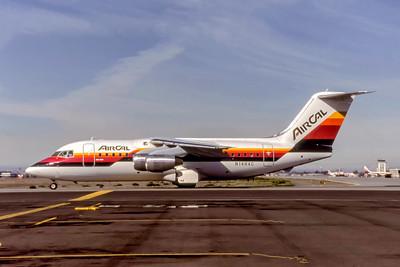 AirCal, N148AC, Bae-146-200, msn E2057, Photo by Eddy Gual, Image W018LGEG