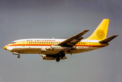 Air California Airlines, N464GB. Boeing 737-293, msn 19309, Photo by Photo Enrichments Collection, Image J185LASP
