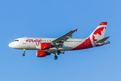Air Canada Rouge, C-GARJ, Airbus A319-114, msn  752, Photo by John A Miller, LAX, Image AB061LAJM