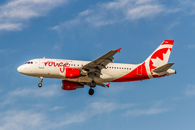 Air Canada Rouge, C-FYJG, Airbus A319-114, msn 670, Photo by John A Miller, TPA, Image AB073LAJM