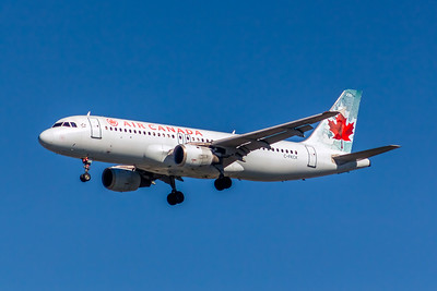Air Canada, C-FKCK, Airbus A320-211, msn 265, Photo by John A Miller, LAX, Image T140LAJM