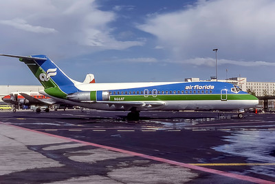 Air Florida, N66AF, Douglas DC-9-15RC, msn 47152, Photo by Adrian J Smith, MIA,  ImageC028RGAS