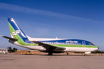 Air Florida, N42AF, Boeing 737-112, msn 19770, Photo by Adrian J Smith, Image J030RGAS