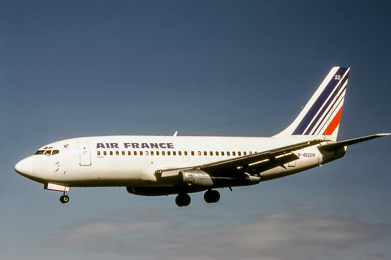 Air France, N-4522W, Boeing 737-247, msn 20126, Photo by Photo Enrichments Collection, Image J015LAJC