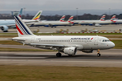 Air France, F-GRHV, Airbus A319-111, msn 1505, Photo by John A Miller, LHR, Image AB076RGJM