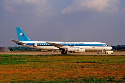 Air Transport International, N51CX, Douglas DC-8-62H(F), msn 46027, GSO, Photo by John A. Miller, Image B014RGJM