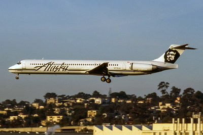 Alaska Airlines, N778JA, McDonnell Douglas MD-82, Photo by Nigel Chalcraft, SJC, Image D004LANC