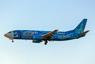 Alaska Airlines, N706AS, Boeing 737-490, msn 28894, Photo by John A Miller, LAX, Image L028LAJM