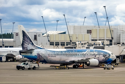 Alaska Airlines, N792AS, Boeing 737-490, msn 28887, Photo by John A Miller, SEA, Special Paint Colors, Image L038RGJM