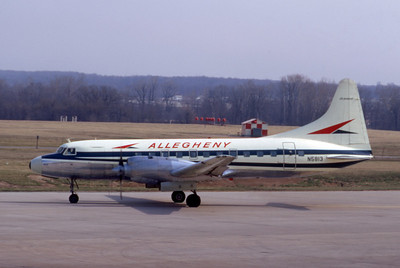 Allegheny Airlines, N5813, Convair CV580, msn 130, Photo by Dean Slaybaugh, Image CV008LGDS